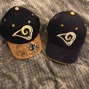 NWOT Set of 2 LA Rams 🏈 NFL Kids hats.